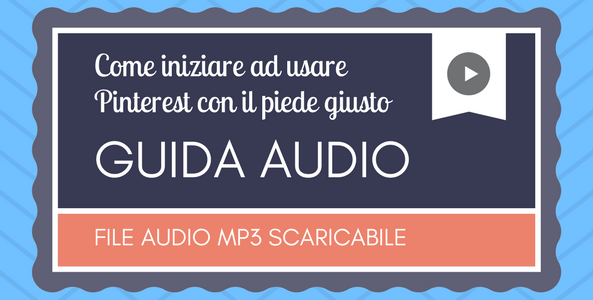 guida audio pinterest